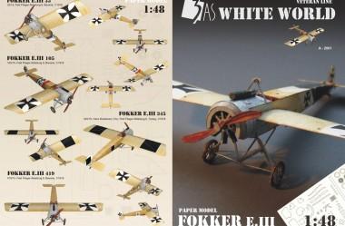 Fokker EIII - Titulni list a zadni strana